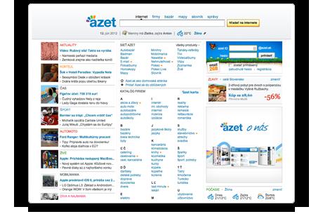 Hlavná stránka Azet.sk