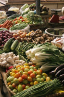 Vegetables in a market in the Philippines